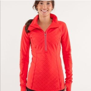 LULULEMON RUN TOASTY TECH PULLOVER